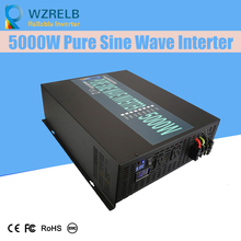 Continuous power 5000w pure sine wave solar inverter 24V to 220V off-grid pure sine wave solar inverter solar converter