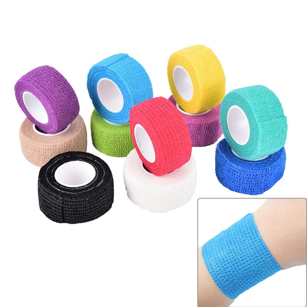 Kendinden yapışkanlı bandaj sarar elastik yapıştırıcı ilk yardım bandı kadın erkek spor Bodybuild egzersiz Fitness desteği 2.5m x 4.5cm
