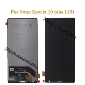 Image 1 - شاشة عرض أصلية 6.5 بوصة لأجهزة Sony Xperia 10 Plus LCD + شاشة لمس محول رقمي بديل لأجهزة Sony 10 plus قطع إصلاح LCD