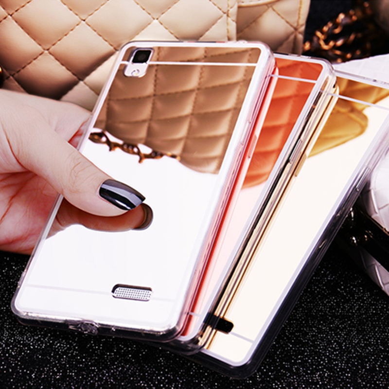 the best attitude 6258d f58fc Luxury Mirror Case for OPPO A77 A79 A83 A71 Back Cover Plating TPU Silicone  Thin Case for OPPO A51 A53 A57 A59 Glossy Capa-in Fitted Cases from ...