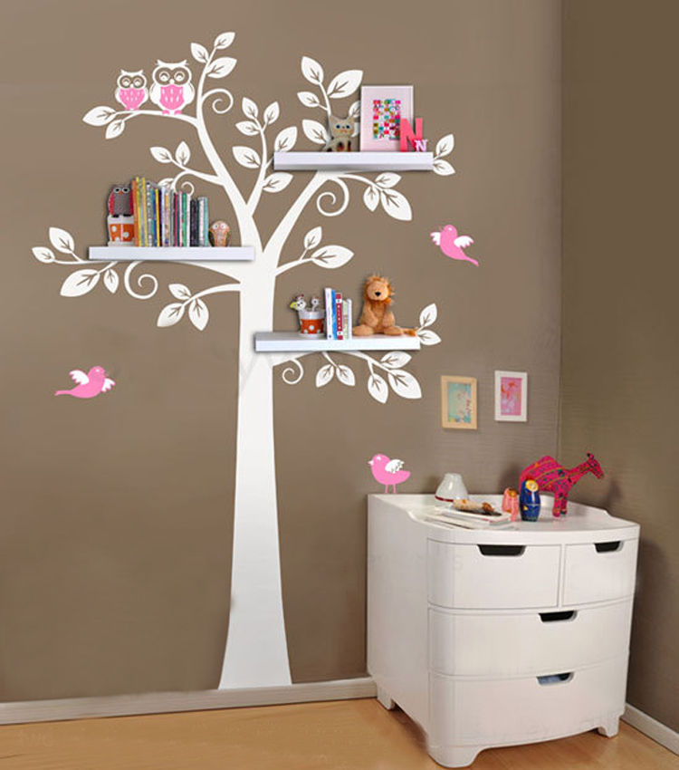 Beautiful Wall Shelf Tree, Nursery Wall Decals, Decorative Wall Shelves Modern Wall  Art Sticker Bedroom Decor Kids Room Decor In Wall Stickers From Home U0026  Garden On ...