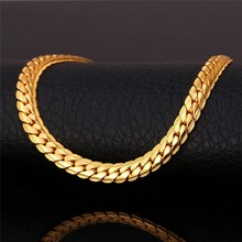 Venetian Snake Long Chain Necklace Men Jewelry Wholesale 6MM 46+cm White Gold Plated Chains Choker For Men Collares Gift N739K