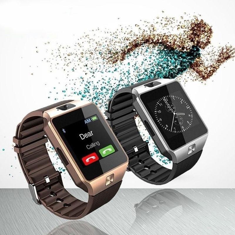 imágenes para Nuevo smart watch dz09 con cámara tarjeta sim reloj de pulsera bluetooth smartwatch para android ios teléfonos soporte multi idiomas