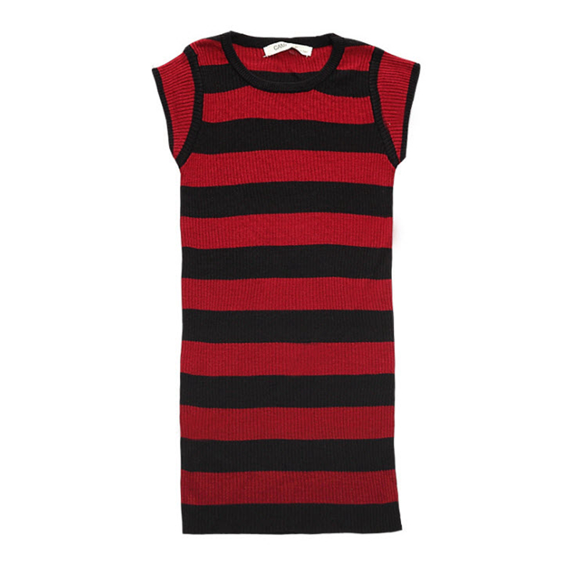 19641f00f7e Baby Girls Knitted Dress 2017 New Summer Dresses Cotton Black Red .