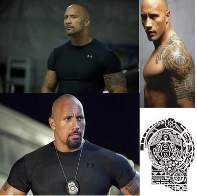 Temporary tattoo fastfurious dwayne the rock johnson tattoo big temporary tattoo fastfurious dwayne the rock johnson tattoo big size arm waterproof removable flash tattoo tatoo for man1pc in temporary tattoos from altavistaventures Image collections