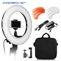 Capsaver 5500K LED Studio Ring Light 55W Dimmable Camera Photo Studio Phone Video Photography Lighting With