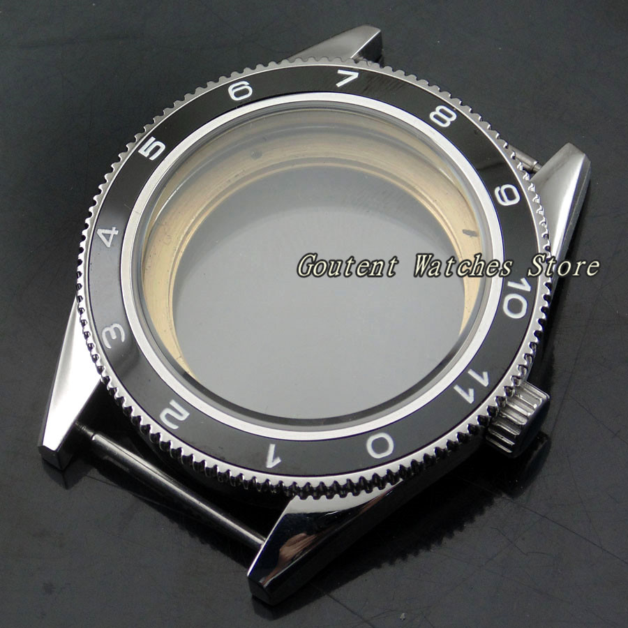 41mm Watch Case Ceramic Bezel Fit Miyota 8205/8215,ETA 2836 DG 2813 Wristwatch Shell