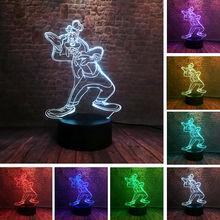 Luminous Goofy Dog Anime Figma Model 3D Illusion Lamp LED 7 Colorful Change Light Mickey Family Cartoon Figure Goofy Figure Toys