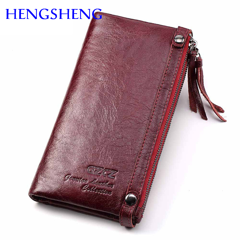e42873f6d Hengsheng fashion genuine leather women long wallet with cow leather female  wallet of coin pocket long