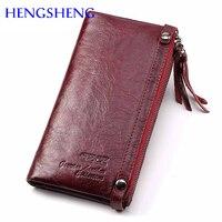 77b54d69895 Hengsheng mode lederen vrouwen lange portemonnee met koe vrouwelijke van  broekzak dame. US $25.48 US $13.25. Hengsheng Fashion Genuine Leather Women  Long ...