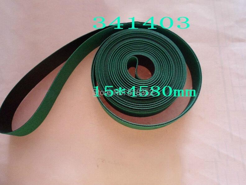 341403 Charmilles Belt 15 x 4580 mm Green ( with one side black), Wire EDM Machine Spare Parts 200440864 charmilles belt 15 x 3030mm green with one side black wire edm low speed machine spare parts