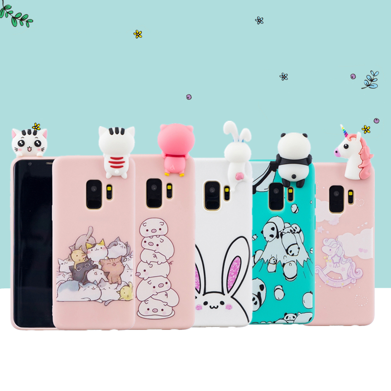 Fitted Cases Cellphones & Telecommunications Open-Minded For Samsung Galaxy S7 Edge S8 S9 J3 J5 J7 A8 A6 J4 J6 Plus 3d Stress Relief Soft Silicon Cute Unicorn Panda Printing Cover Case