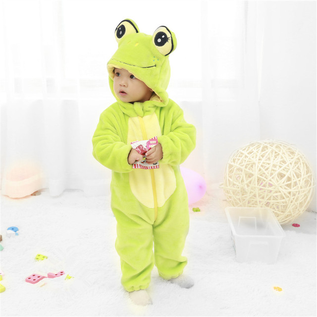 40537c07b Children's Wear Newborn Toddler Baby Animal Romper Outfits Cute frog  Jumpsuit Costume Soft Cotton clothe for boy and girl