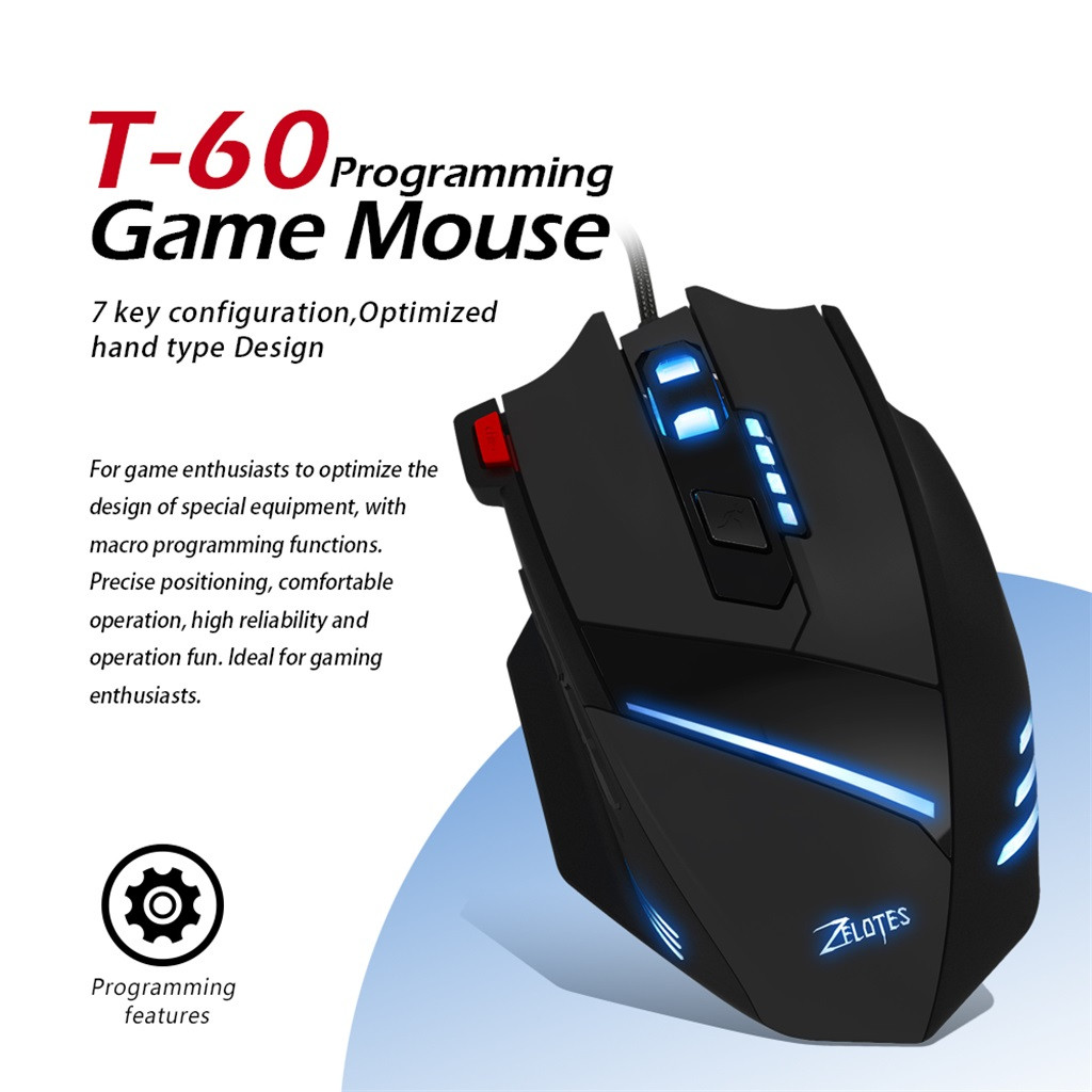 Button USB LED Color Cable Gaming Mouse And Micedesktop Computer