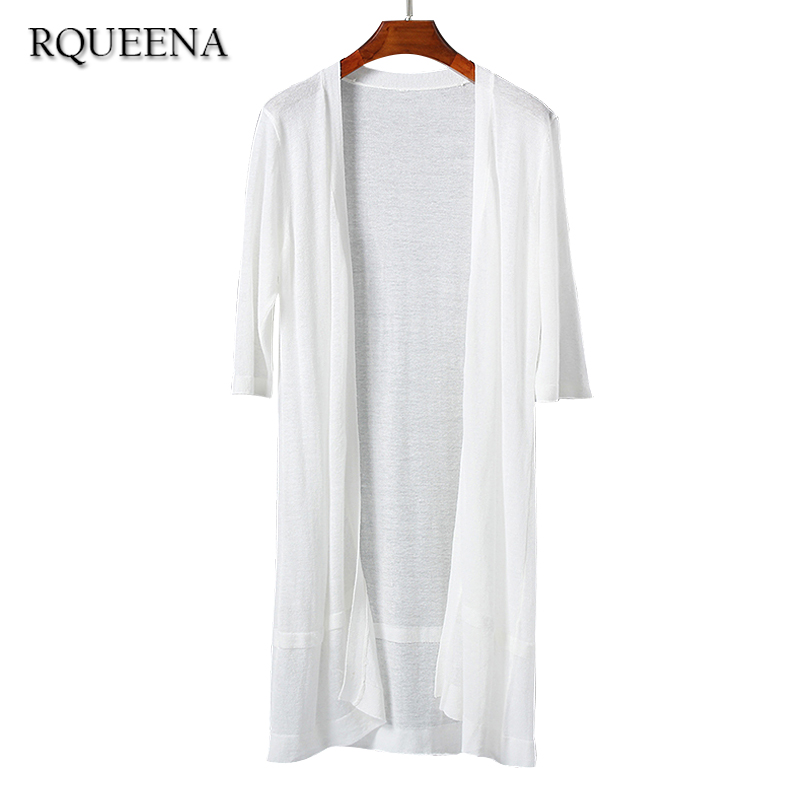 Rqueena Korean Clothes Cotton Linen Summer Cardigans Women Free ...
