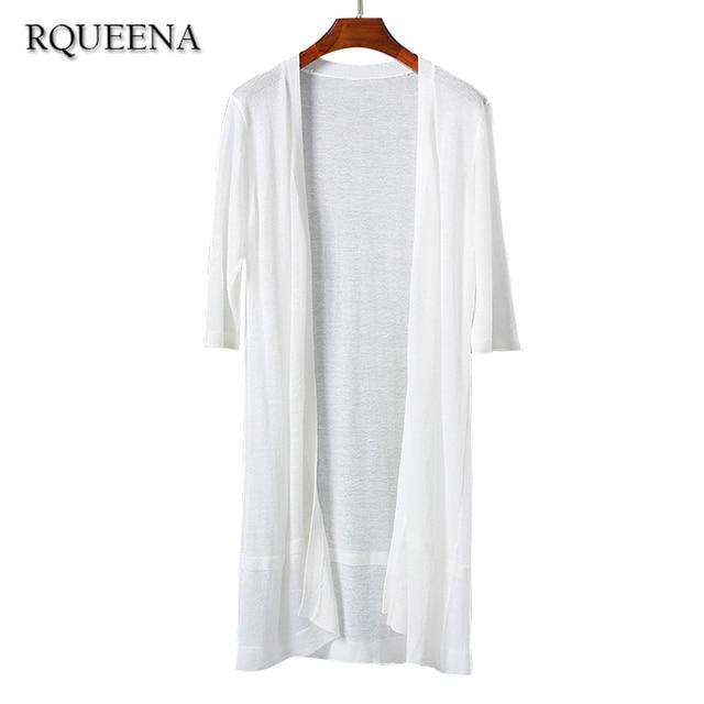 Aliexpress.com : Buy Rqueena Thin Summer Cardigan 2017 Knitted ...