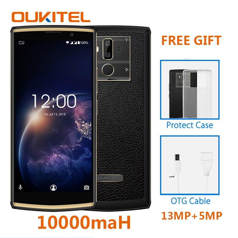 OUKITEL K7 Poder 2G RAM 16G ROM Android 8.1 Do Telefone Móvel MT6750T Octa Core 6.0