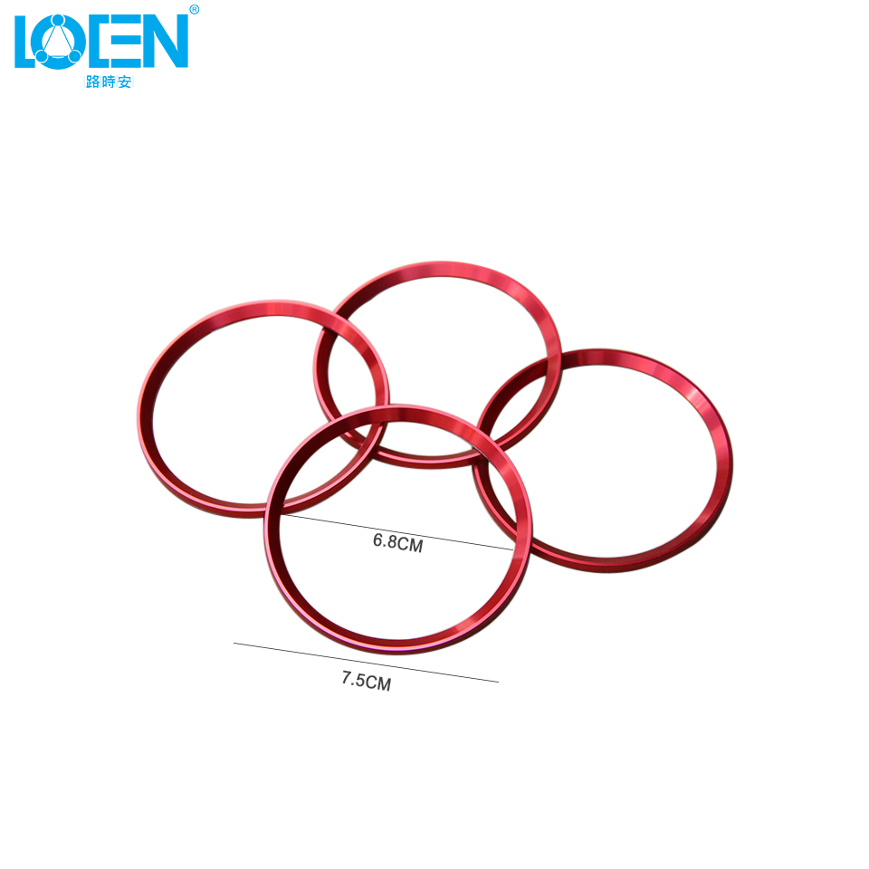 Car Styling 4pcs Aluminum Alloy Wheel Rim Sticker Ring Hub Diagram Center Decoration Circle For Cadillac Xt5 Atsl Xts Srx 4 Colors In Stickers From
