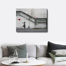 Laeacco Canvas Calligraphy Paintings Little Girl Posters and Prints Graffiti Wall Art Pictures For Home Living Room Decoration