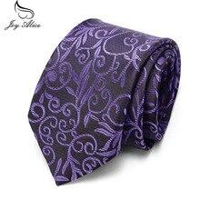 купить Floral Tie Necktie Red Wedding Neck Men's 7.5 cm Fashion White Black Ties Purple Formal Business Suit Tie For Men по цене 174.23 рублей
