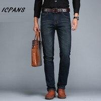 ICPANS Big Size 40 42 44 Jeans Men Classic Smart Casual Straight Elasticity Jeans For Men