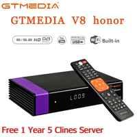Récepteur Satellite GTMedia V8 Honor WiFi avec 1 an espagne Europe Cccam Cline Full HD DVB-S2/S récepteur Freesat V8 NOVA