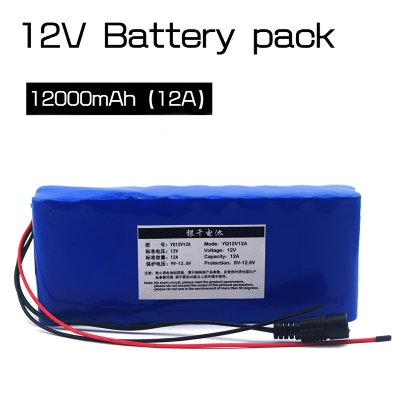 VariCore 12 v 18650 Lithium ion Battery Pack 12A Protection plate 12 6V 12000mAh Hunting lamp