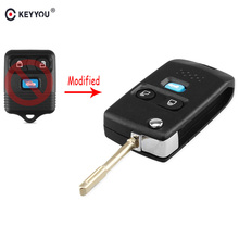 KEYYOU 3 кнопки дистанционного ключа чехол оболочка брелок Складной флип для Ford Transit MK6 подключения Maverick