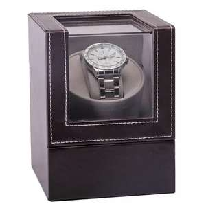 Watch-Box Winder Motor-Shaker Mechanical-Watch Automatic New Display Brown Mini High-Class