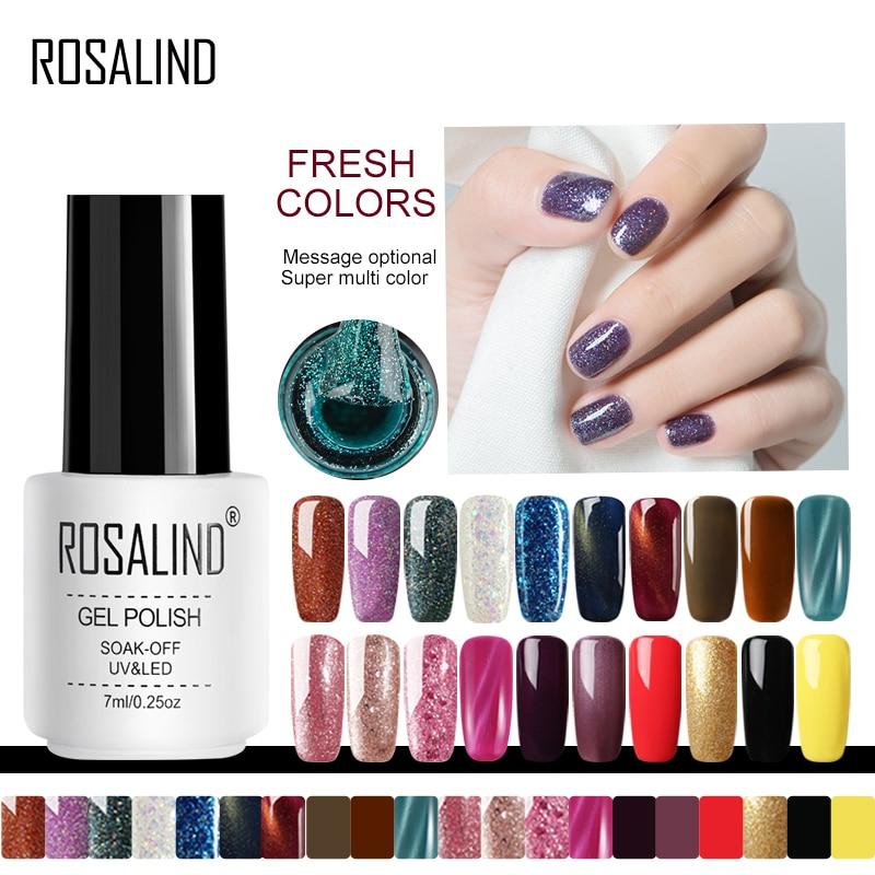 Розалинд ногтей Гель-лак Лаки Полупостоянный UV Гибридный гвоздь Art Гель лак-эмаль для ногтей Топ Base Coat от Gellak белый грунт