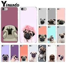 Yinuoda Animal Bonito Pug Dog TPU Macio Silicone Transparente Phone Case para iPhone 5 8 7 6 6 S Plus 5S SE XR X XS MAX Coque Shell(China)
