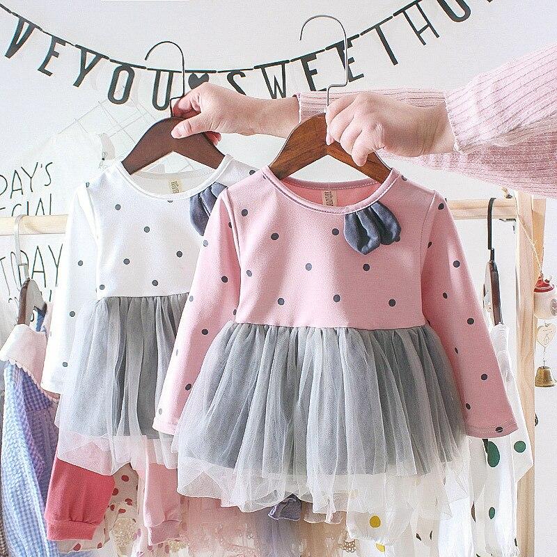 Autumn Kids Dress Cotton Long Sleeve Toddler Girl Dress Fashion Girls Clothing