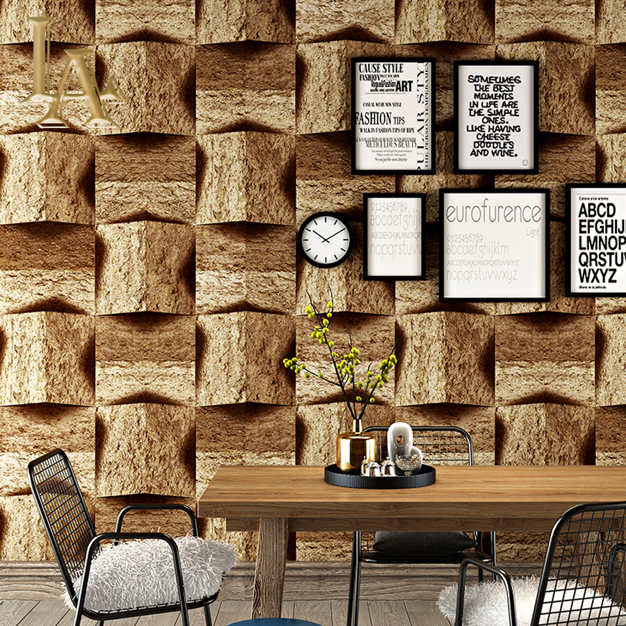 Vintage Brick Stone Walls Wallpaper Nostalgia 3D PVC Wallpapers Living Room Cafe KTV Decor Wallpaper Vinyl Wall Paper Rolls shinehome abstract brick black white polygons background wallpapers rolls 3 d wallpaper for livingroom walls 3d room paper roll