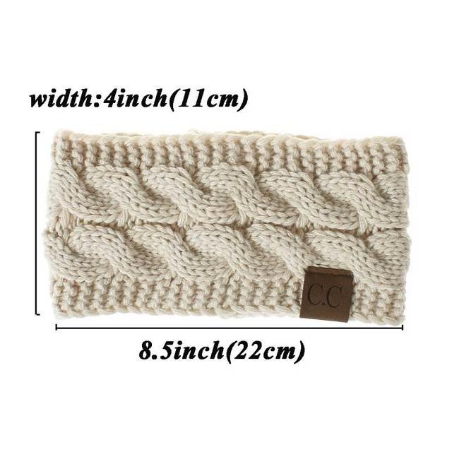 Women Winter  Solid Wide Knitting Woolen Headband Warm Ear Crochet Turban Hair Accessories For Women Girl Hair Band Headwear 2