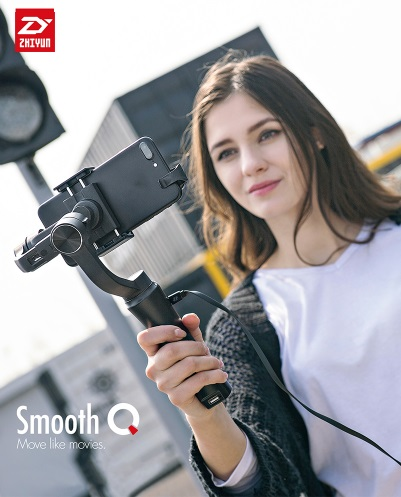 Smooth Q 3-Axis Handheld Smartphone Gimbal Stabilizer Smooth-Q VS Zhiyun Smooth 4 Model for iPhone X 8 7 Samsung S9 S8 S7 zhiyun smooth q 3 axis handheld gimbal stabilizer for smartphone