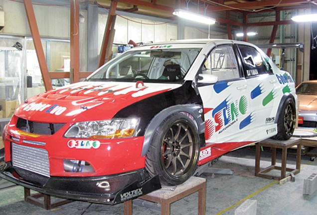 2001-2007 Mitsubishi Lancer Evolution 7-9 Voltex Cyber Version Style +20mm Front Fender with Flare FRP (7)