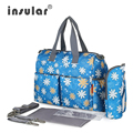 Hot Sale Elegant Print Baby Diaper Bag Urban Series Fashion Multifunctional Diaper Changing Bag Mommy Bag Waterproof Nappy Bag