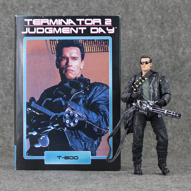 18 cm NECA Terminator 2 Judgment Day T-800 Arnold Schwarzenegger Acción PVC Figura de Colección Modelo de Juguete