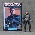 18 cm NECA o Exterminador do Futuro 2: Judgment Day T-800 Arnold Schwarzenegger PVC Action Figure Collectible Modelo Toy