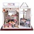 Hoomeda Dollhouse PH002 Магия Закуски Миниатюрный DIY Kit Ручной Куклы Огни Лучший Подарок Игрушки Для Детей Взрослых Девочек