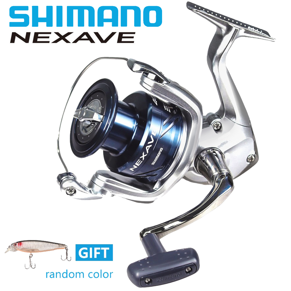 Shimano Nexave FE Spinning Fishing Reel New 2018 Original Brand Reel 2500HG /C3000HG/4000HG/ 5000HG Gear Ratio 6,2:1/5,8:1