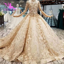 AIJINGYU Hangzhou חתונה שמלות שמלות יבול למעלה תמונה אמיתית היי נמוך Weddig בריטניה קפלי לבן מחוך שמלת חתונה שמלת 3D