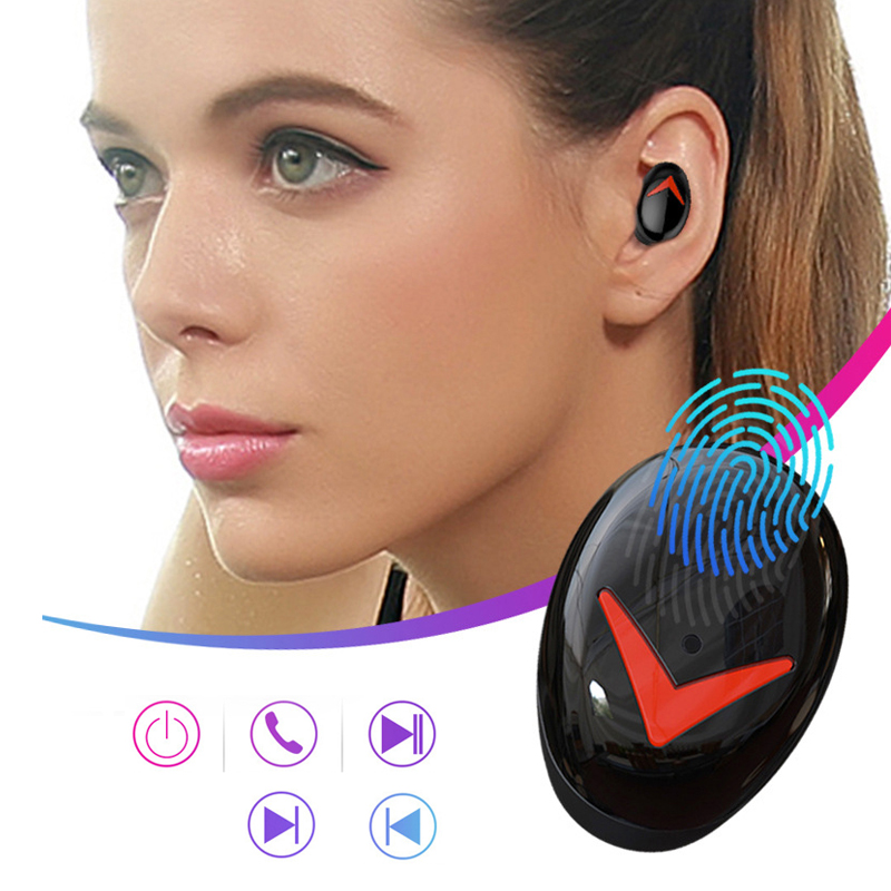 TWS Bluetooth Earphones 5 0 Mini Sport Wireless Headset Stereo Bass Earbuds Touch control with charging earphone YZ281 in Bluetooth Earphones Headphones from Consumer Electronics