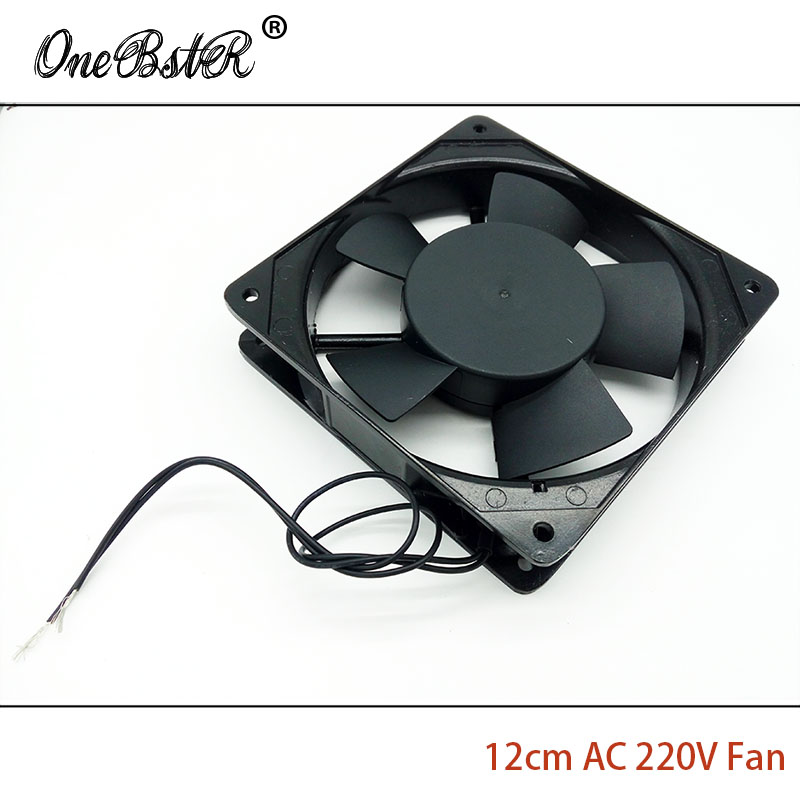 все цены на  12cm AC Fan 220V/240V AC 0.1A  2000RPM 12025 Sleeve Bearing Fan Metal Frame + PBT Furnace Freezer Chassis Cooling Fans 50/60Hz  онлайн
