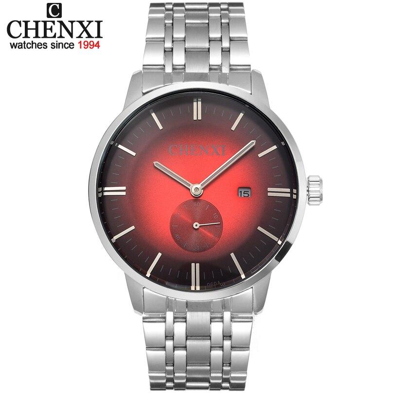 CHENXI Brand Top Luxury Ladies Gold Watch Women Golden Clock Female Women Dress Rhinestone Quartz Waterproof Watches Feminine 33