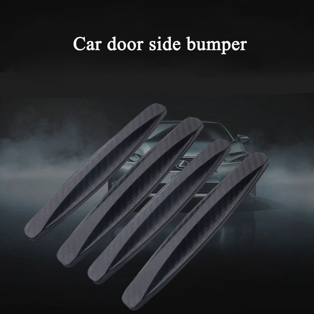 4PCS Black Car Door Protector door sideSoft Auto Door Guard Edge Corner Bumper Guard Buffer Molding Protection Strip