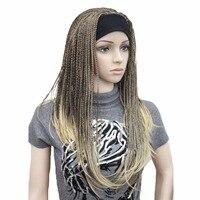 StrongBeauty Donne Sintetiche Parrucche Lunghe Intrecciatura Dei Capelli Del Crochet Con La Fascia Mezza Parrucca