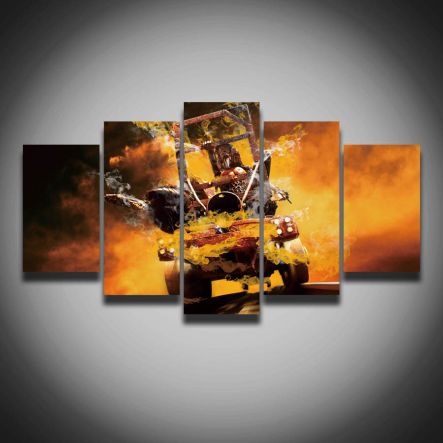 framed printed cool car picture poster canvas painting wall home decoration for room