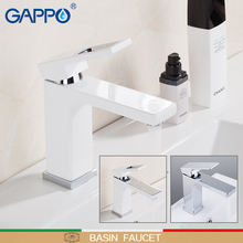 GAPPO Basin Faucet chrome wash basin sink faucets bathroom basin sink mixer brass water taps bathroom mixer taps torneira ouboni tempered glass sinks polish chrome bathroom sink washbasin ceramic lavatory bath sink combine set torneira mixer faucet