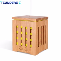 TSUNDERE L 350ML Aroma Essential Oil Diffuser Ultrasonic Air Humidifier Cool Mist Maker Bamboo Aromatherapy For
